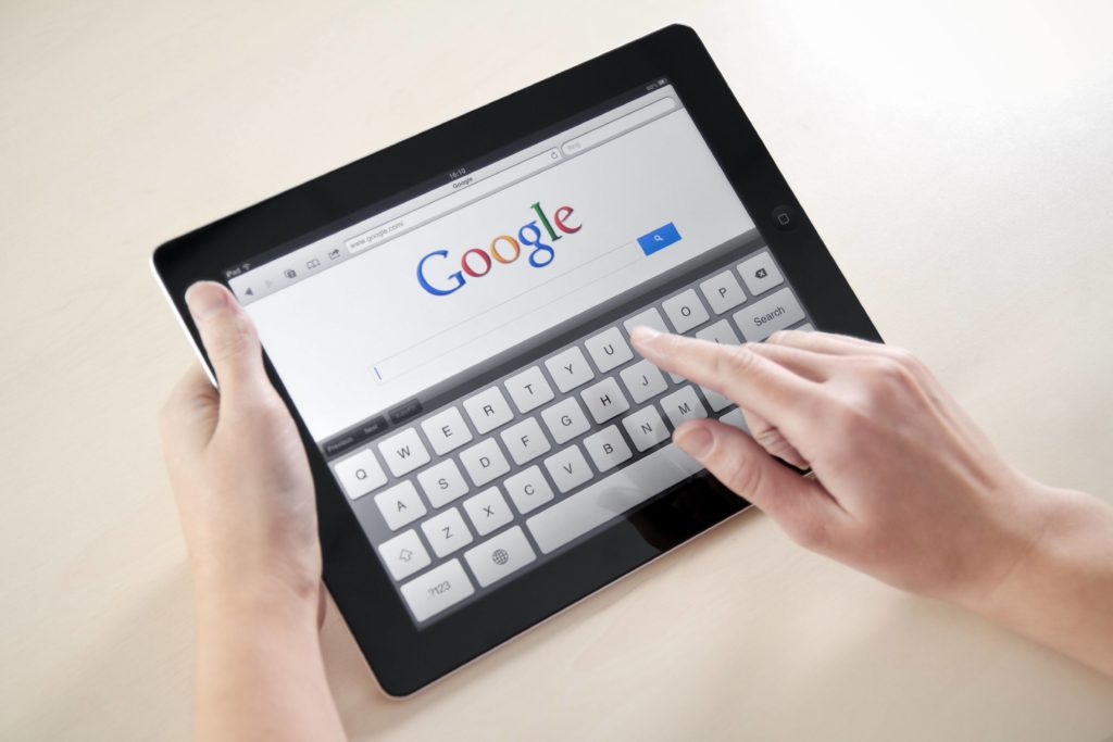 Google Search on Mobile Device
