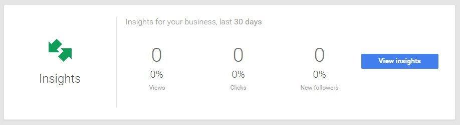Google My Business - Insights