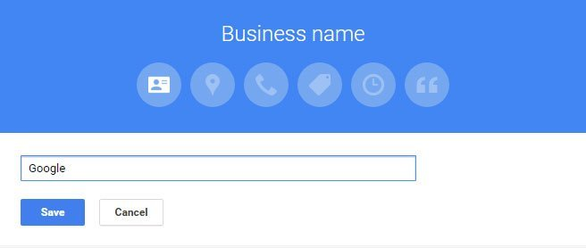 how to put your business name on google