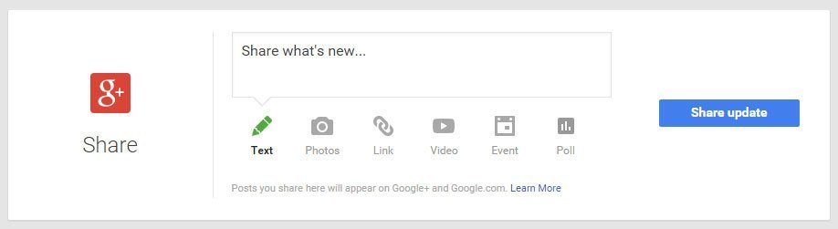Google My Business - Share on Google+