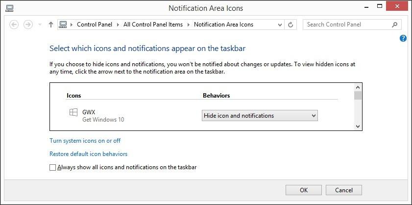 Hide Windows 10 Notifications