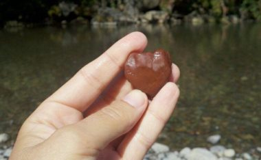 A heart shaped stone pulled from Russian River local to Sonoma County