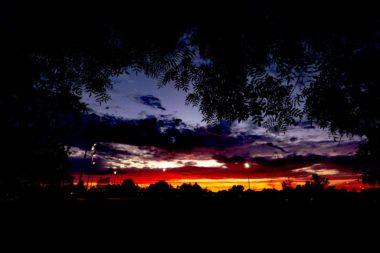 Beautiful vista of Sonoma County skyline at sunset