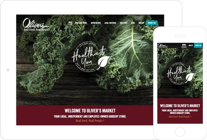 Oliver's Market Website