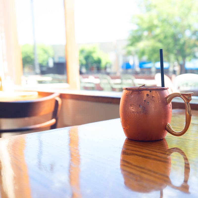 Moscow Mule cocktail served at McNear's Saloon and Dining Hall