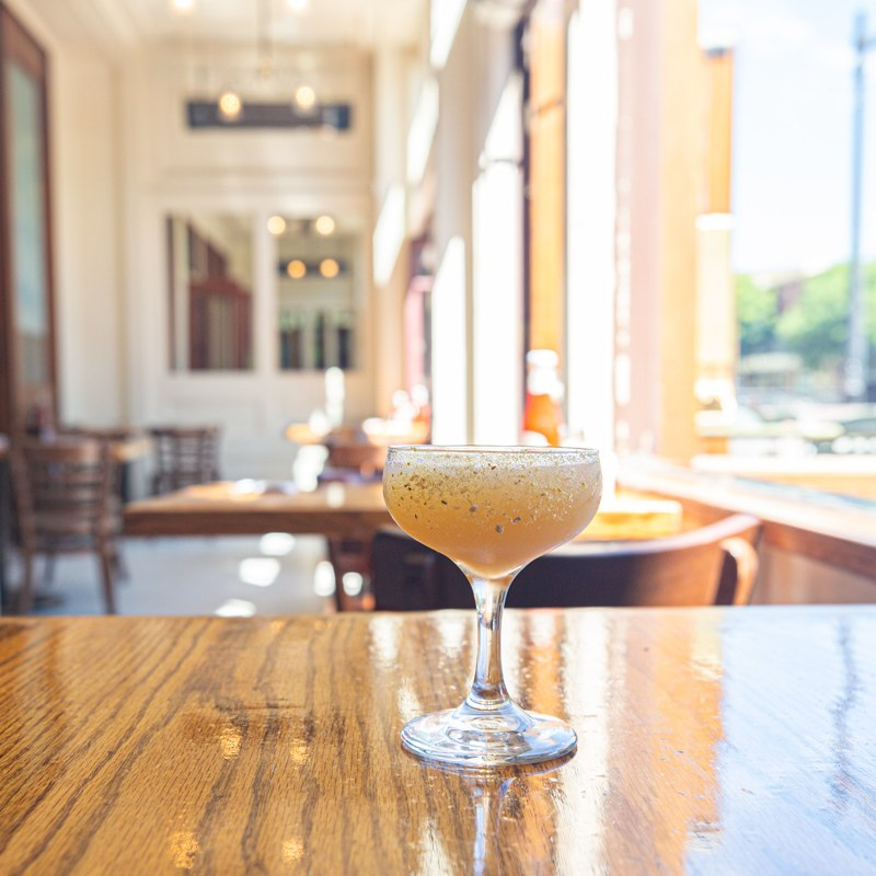 Sidecar cocktail served at McNear's Saloon and Dining Hall