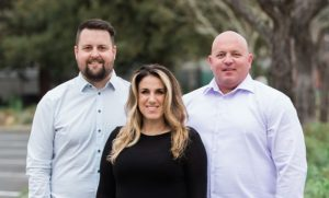 The leadership team of West County Net, winners of the Bohemian's Best of North Bay 2021 for Best Ad Agency in Sonoma County. From left to right: Julian Holmes, Paloma Patino, and Chris Frost
